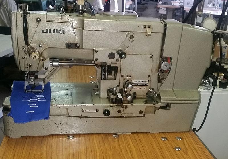 JUKI LBH-772 gomblyukazógép